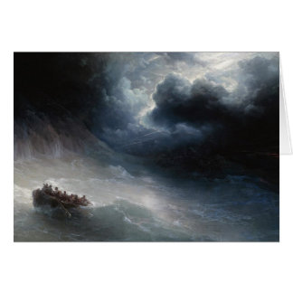 The Wrath of the Seas Ivan Aivazovsky seascape Card