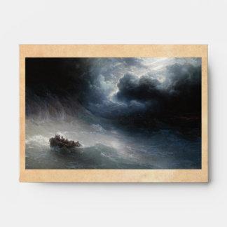 The Wrath of the Seas Ivan Aivazovsky seascape Envelope