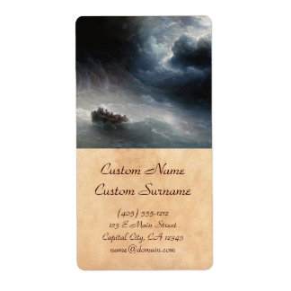 The Wrath of the Seas Ivan Aivazovsky seascape Shipping Label