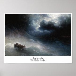 The Wrath of the Seas Ivan Aivazovsky seascape Poster