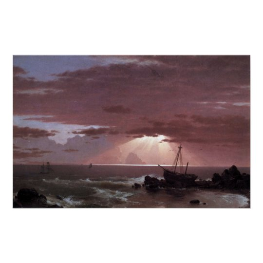 The wreck by Frederic Edwin Church Poster