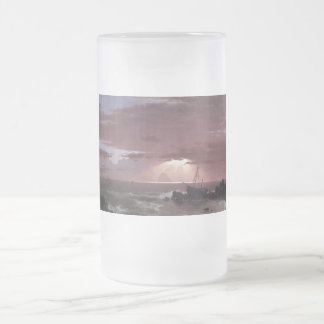The wreck by Frederick Edwin Church Frosted Glass Beer Mug