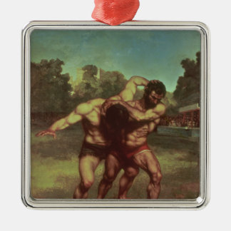 The Wrestlers, 1853 Metal Ornament