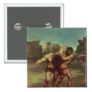 The Wrestlers, 1853 Pinback Button