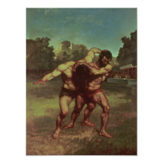 The Wrestlers, 1853 Poster
