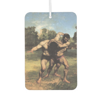 The Wrestlers by Gustave Courbet Car Air Freshener