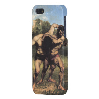The Wrestlers by Gustave Courbet Case For iPhone SE/5/5s