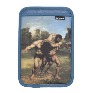 The Wrestlers by Gustave Courbet iPad Mini Sleeves