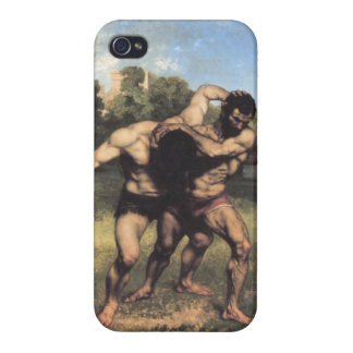 The Wrestlers by Gustave Courbet iPhone 4 Cover
