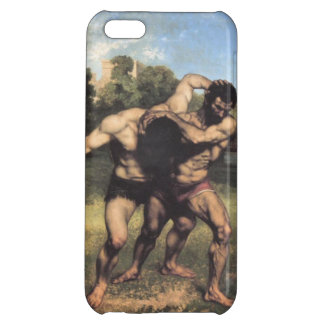 The Wrestlers by Gustave Courbet iPhone 5C Cases