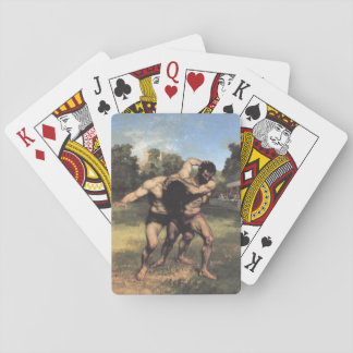 The Wrestlers by Gustave Courbet Playing Cards
