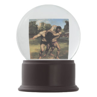 The Wrestlers by Gustave Courbet Snow Globe