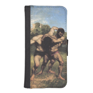 The Wrestlers by Gustave Courbet Wallet Phone Case For iPhone SE/5/5s