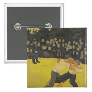 The Wrestling Bretons, c.1893 Pinback Buttons