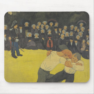 The Wrestling Bretons, c.1893 Mouse Pad