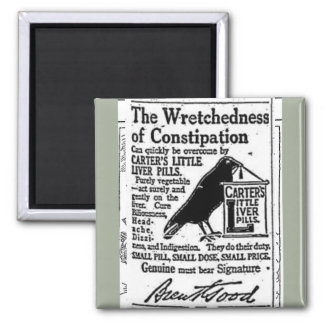 The Wretchedness of Constipation Vintage 2 Inch Square Magnet