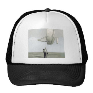The wright brothers glider flyer mesh hats