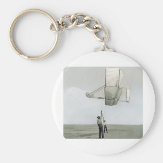 The wright brothers glider flyer keychain