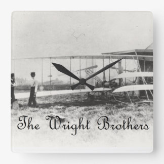 The Wright Brothers Square Wall Clock