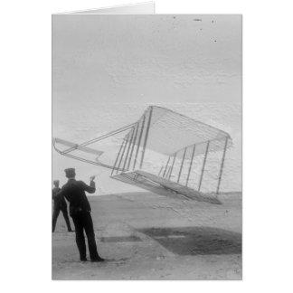The Wright Brothers test flight Card