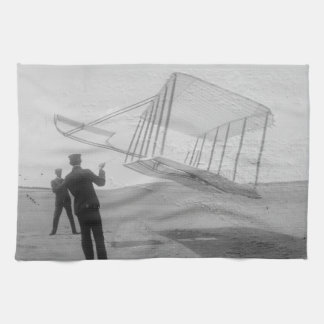 The Wright Brothers test flight Hand Towel
