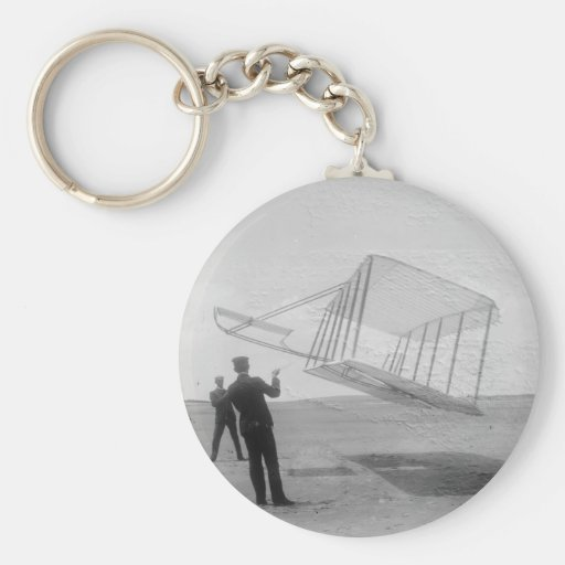 The Wright Brothers test flight Key Chain