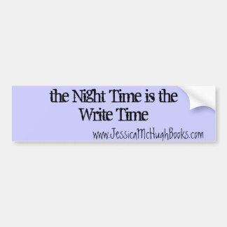 the Write Time Car Bumper Sticker