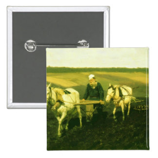 The writer Lev Nikolaevich Tolstoy 2 Inch Square Button