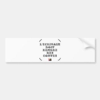 The WRITER must RETURN TALES Bumper Sticker