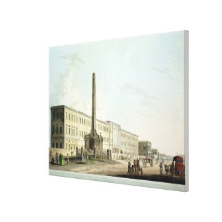 The Writers' Buildings, Calcutta, plate 30 from 'O Canvas Print