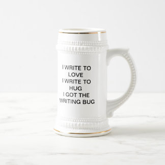 The writing bug beer stein
