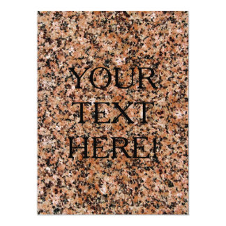 THE WRITING IS ON THE GRANITE WALL! 6.5X8.75 PAPER INVITATION CARD