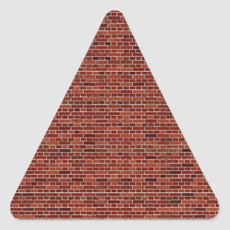THE WRITING IS ON THE WALL: BRICK WALL THAT IS! TRIANGLE STICKER
