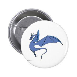 The Wyrm (blue) Pinback Button