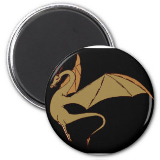The Wyrm (gold) 2 Inch Round Magnet