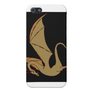 The Wyrm (gold) iPhone SE/5/5s Cover