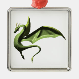 The Wyrm, transparent background Metal Ornament