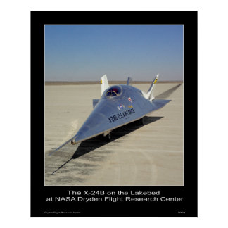 The X-24B on the Lakebed at NASA Dryden Center Poster
