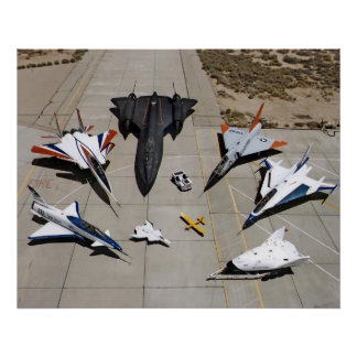 The X-31, F-15S/MTD, SR-71, F-106, F-16XL Poster