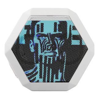The X Revolution: Pop-Graffiti by X White Bluetooth Speaker