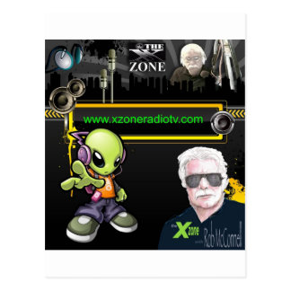 The 'X' Zone Radio & TV Show Postcard