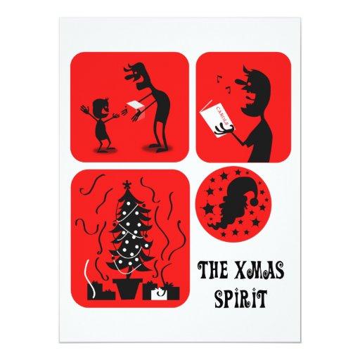 "The Xmas spirit 6.5"" X 8.75"" Invitation Card"