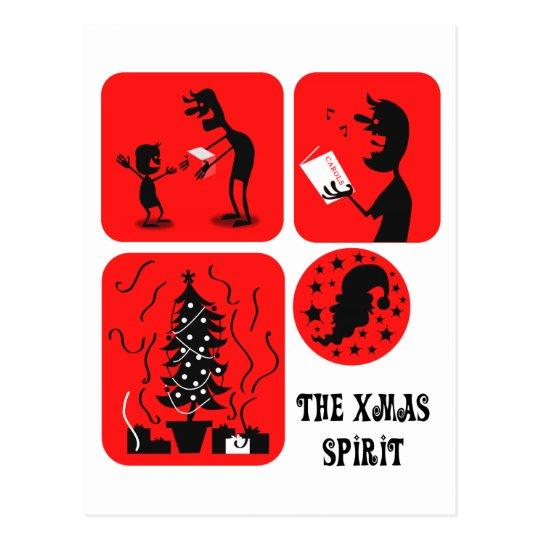 The Xmas spirit Postcard