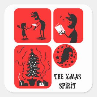 The Xmas spirit Square Sticker