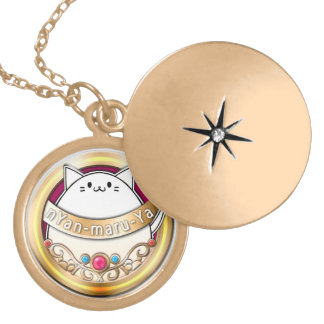 The ya it is roundly the house logographic necklac round locket necklace