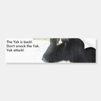 The yak is back! bumper sticker