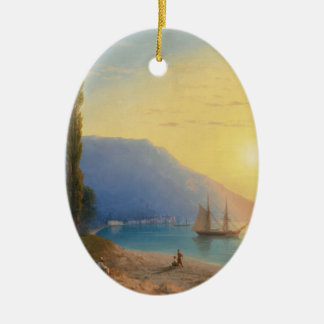 The Yalta evening sun Ceramic Ornament