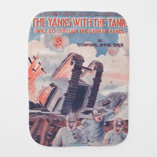The Yanks With The Tanks Burp Cloth