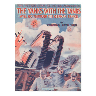 The Yanks With The Tanks Postcard