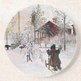 The Yard and Wash-House, Carl Larsson Coaster
